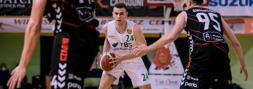 Zacięta końcówka dla Czarnych. TBS Śląsk przegrał z liderem 1. ligi (galeria zdjęć)